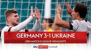 Werner brace guides Germany to comfortable victory | Germany 3-1 Ukraine | Nations League Highlights