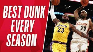 Celebrate LeBron's 36th Birthday With His BEST DUNK From EVERY SEASON!