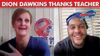 Dion Dawkins Surprises Touchdown for Teachers Winner!