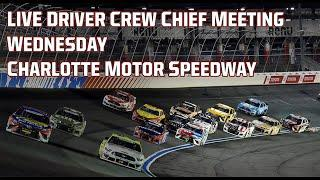 NASCAR Cup Series Drivers Meeting | Alsco Uniforms 500 at Charlotte Motor Speedway