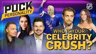 Who is your celebrity crush?   Puck Personality   NHL