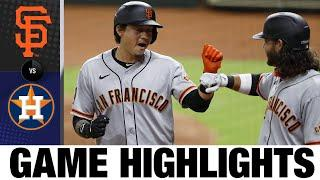 Pence, Crawford lead Giants to win | Giants-Astros Game Highlights 8/11/20