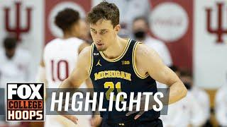 No. 3 Michigan dominates Indiana thanks to Franz Wagner's 21 points | FOX COLLEGE HOOPS HIGHLIGHTS