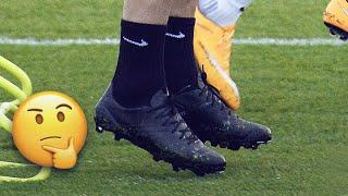 Why do some players play in ALL BLACK football boots? | Oh My Goal
