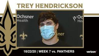 Trey Hendrickson on Saints D-Line, Week 7 Game Plan | Saints vs. Panthers Week 7 2020