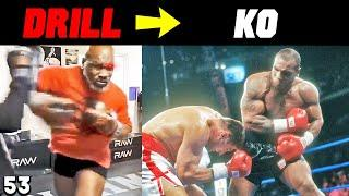 Mike Tyson   Crazy Drills At 53 That Were REAL KO in PRIME [SIGNATURE MOVES SIDE BY SIDE COMPARISON]