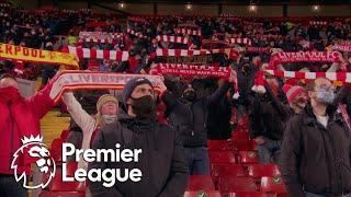 Liverpool fans sing 'You'll Never Walk Alone' in Anfield return | Premier League | NBC Sports
