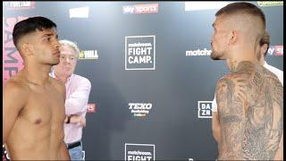 'THAT'S HOW A PROFESSIONAL DOES IT' - KANE BAKER TELLS TALENTED AQIB FIAZ AT WEIGH-IN / FIGHT CAMP