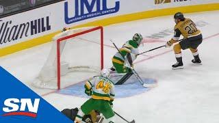 Chandler Stephenson Shows Off Nice Hands Before Roofing Puck Under The Bar