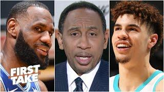 Stephen A. reacts to LaMelo Ball shrugging off playing LeBron James for the first time | First Take