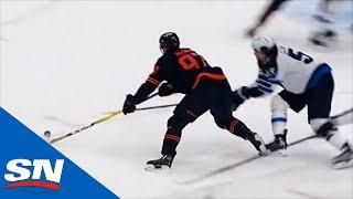 Connor McDavid Circles Around Net And Wires Wrist Shot Past Hellebuyck