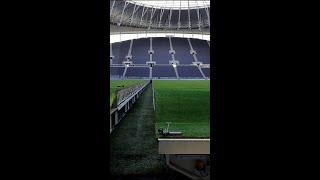 Incredible Premier League to NFL pitch transformation! #Shorts