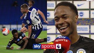 Raheem Sterling jokes about bizarre 'header' which completed his hat-trick