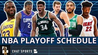 2020 NBA Playoffs Schedule: Eastern Conference & Western Conference 1st Round Bracket + Predictions