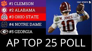 AP Poll: College Football Top 25 + 2020 Heisman Trophy Rankings Ft. Trevor Lawrence & Justin Fields
