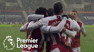 Bukayo Saka completes quickfire Arsenal double against West Brom | Premier League | NBC Sports
