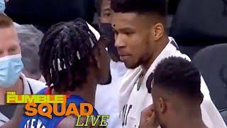 ICYMI: Giannis Antetokounmpo HELD BACK From Fighting Pistons Rookie Isaiah Stewart! | Fumble Live