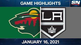 NHL Game Highlights | Wild vs. Kings - Jan. 16, 2021