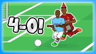 MAN CITY THRASH LIVERPOOL! 4-0 (Parody Goals and Drunk Highlights 2020)