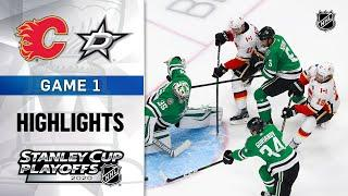 NHL Highlights   First Round, Gm1: Flames @ Stars - Aug. 11, 2020