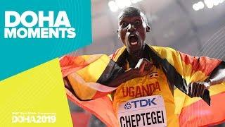 Joshua Cheptegei Wins 10,000m Gold | World Athletics Championships 2019 | Doha Moments