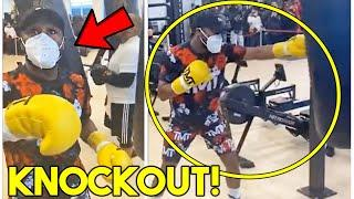 *WOW* FLOYD MAYWEATHER SENDS KNOCKOUT WARNING TO LOGAN PAUL (LEAKED TRAINING CAMP ON HEAVY BAG)