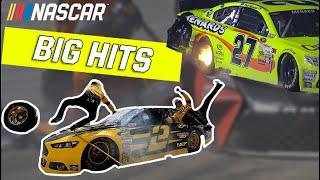 Big Hits and Near Misses on Pit Road    NASCAR compilation