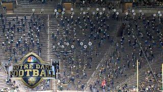 Notre Dame marching band performs at halftime vs. Florida State | NBC Sports