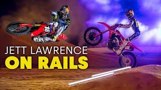 Jett Lawrence Rips Through a Dramatically Narrow Supercross Track in the Dark | On Rails