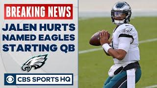 Carson Wentz BENCHED, Jalen Hurts TO START for Eagles | CBS Sports HQ
