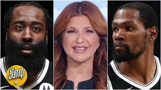 James Harden and Kevin Durant have immediate chemistry on the court - Rachel Nichols | The Jump