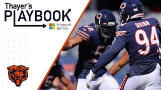 Defensive front causes giant problems for New York | Thayer's Playbook | Chicago Bears