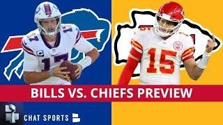 AFC Championship Bills vs. Chiefs Playoffs Preview, Patrick Mahomes Injury News & Josh Allen