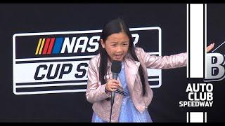Nailed it! Watch 8-year-old Malea Emma's national anthem | NASCAR at Auto Club Speedway
