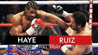 David Haye knocks down John Ruiz FOUR times in his first world title defence | Fight Rewind