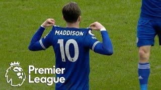 James Maddison strikes first for Leicester City against Aston Villa | Premier League | NBC Sports