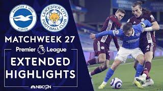 Brighton v. Leicester City | PREMIER LEAGUE HIGHLIGHTS | 3/6/2021 | NBC Sports