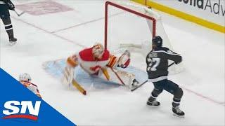 Jacob Markstrom Stretches Out To Rob Nikolaj Ehlers On A 2-on-0 With Glove