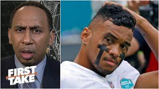 'Tua did not look impressive at all' - Stephen A. reacts to Tagovailoa's 1st start | First Take