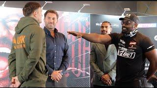 NO FEAR? - OLEKSANDR USYK v DERECK CHISORA - HEAD TO HEAD @ FINAL PRESS CONFERENCE / USYK v CHISORA