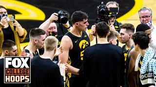 Luka Garza's No. 55 will be retired, Iowa announces in surprise postgame event | FOX COLLEGE HOOPS