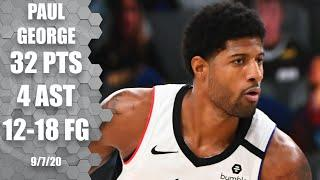 Paul George leads Clippers with 32 points [GAME 3 HIGHLIGHTS] | 2020 NBA Playoffs