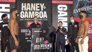 DEVIN HANEY VS YURIORKIS GAMBOA WEIGH IN FROM FLORIDA