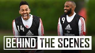 ️Aubameyang shows his speed! | Behind the scenes at Arsenal training centre
