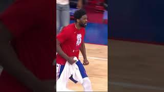 VERY Hype Joel Embiid as the Sixers are ROLLING  | #SHORTS
