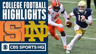 #2 Notre Dame vs Syracuse Highlights: Book leads Irish past 'Cuse in home finale | CBS Sports HQ
