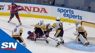 Jeff Petry Snipes Ridiculous Shot From Goal Line Upstairs Past Matt Murray