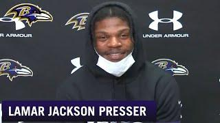 Lamar Jackson Reacts to Being Ravens' 2020 MVP | Baltimore Ravens