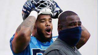 Titans Get in Solid Work Inside Practice Bubble