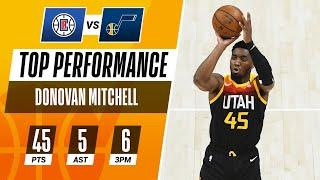 Donovan Mitchell Erupts for 45 PTS in the Game 1 Win!